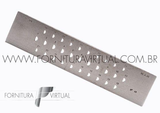 Fieira meia cana Italiana - 6 a 9mm
