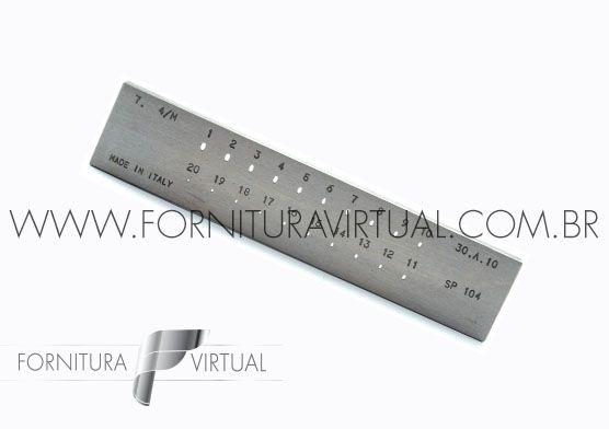 Fieira oval italiana - 1 a 3mm