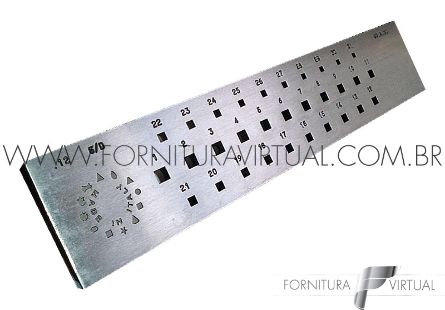 Fieira quadrada italiana - 6 a 3mm