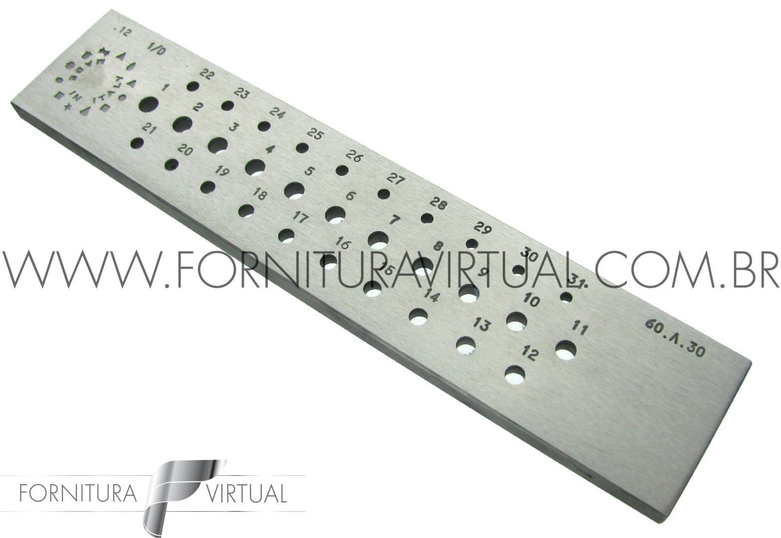 Fieira redonda italiana - 3 a 6mm