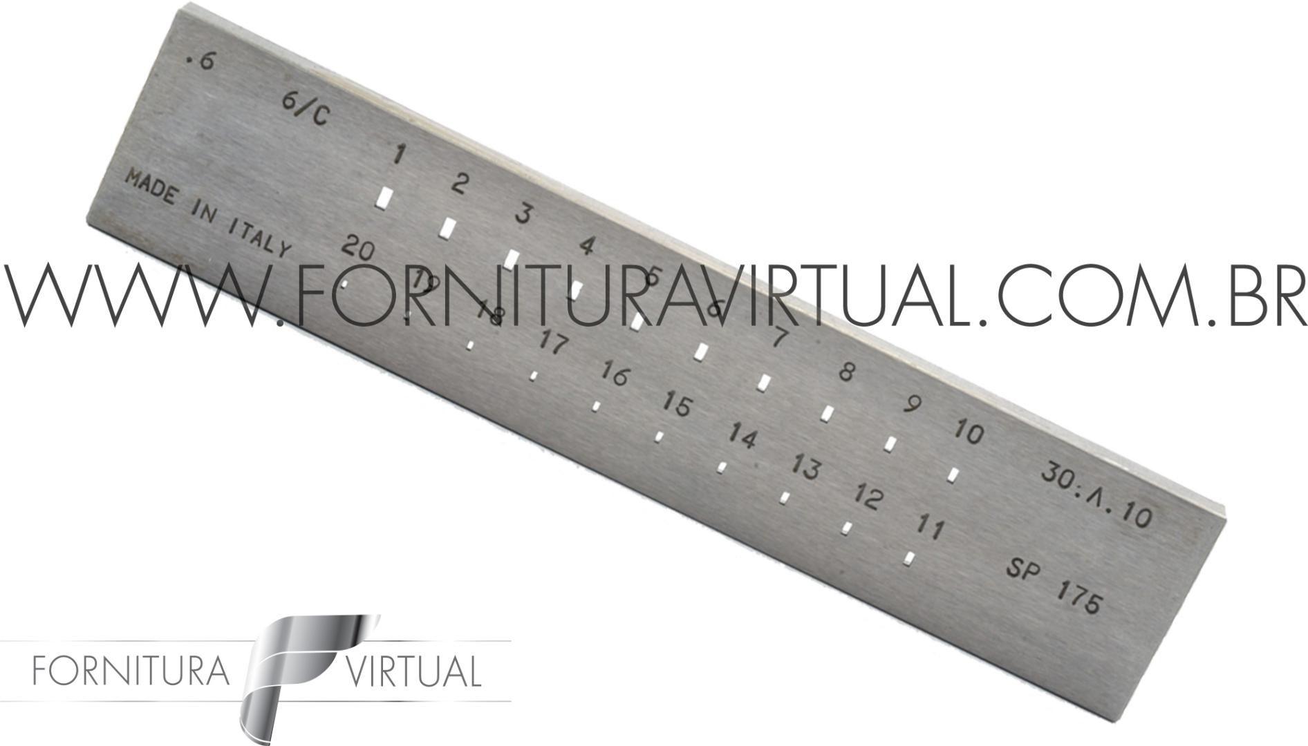 Fieira retangular italiana - 1 a 3mm