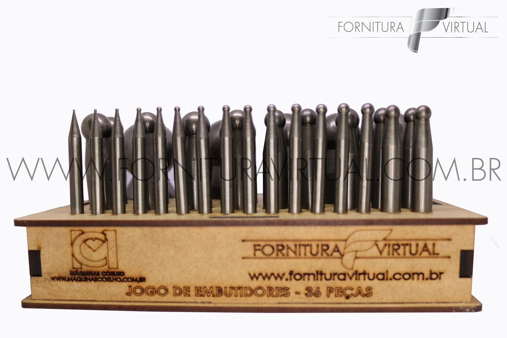 Jogo de Embutidores em aço - 36 Peças - Máquinas Coelho