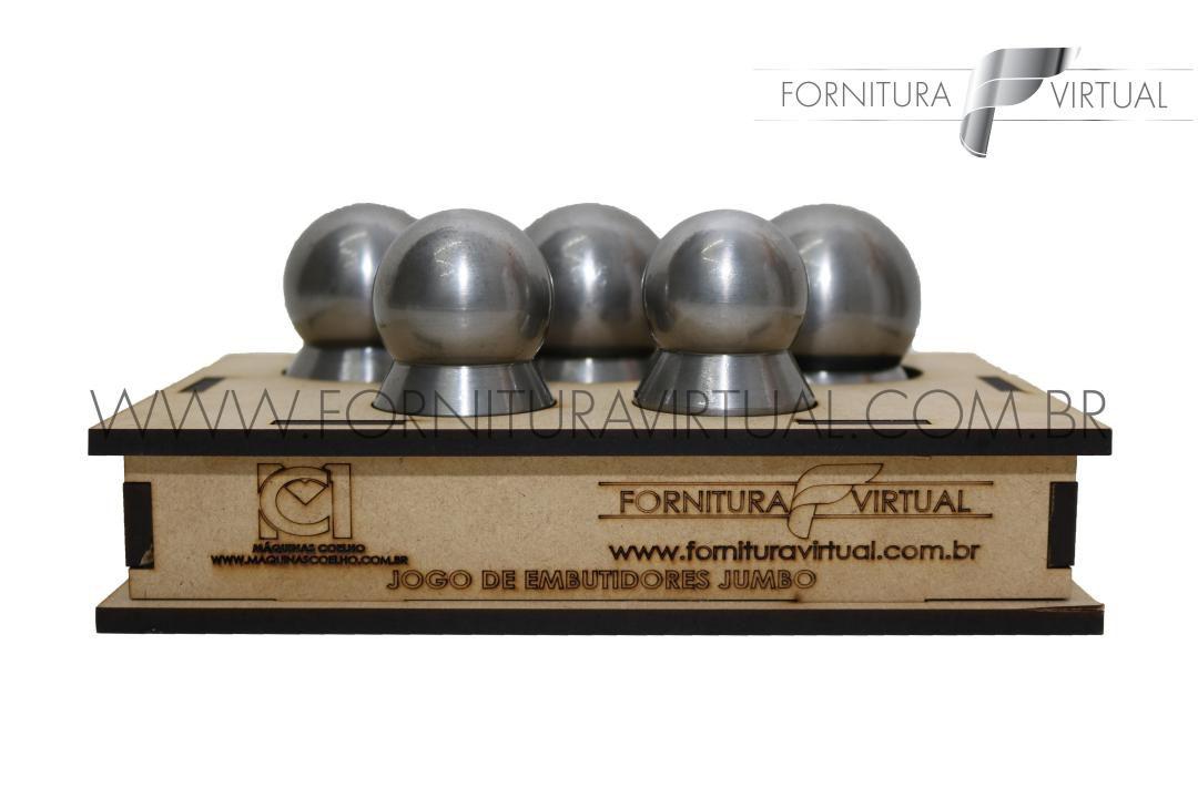 Jogo de Embutidores Jumbo(Extra Grande) em aço - 5 Peças - Máquinas Coelho