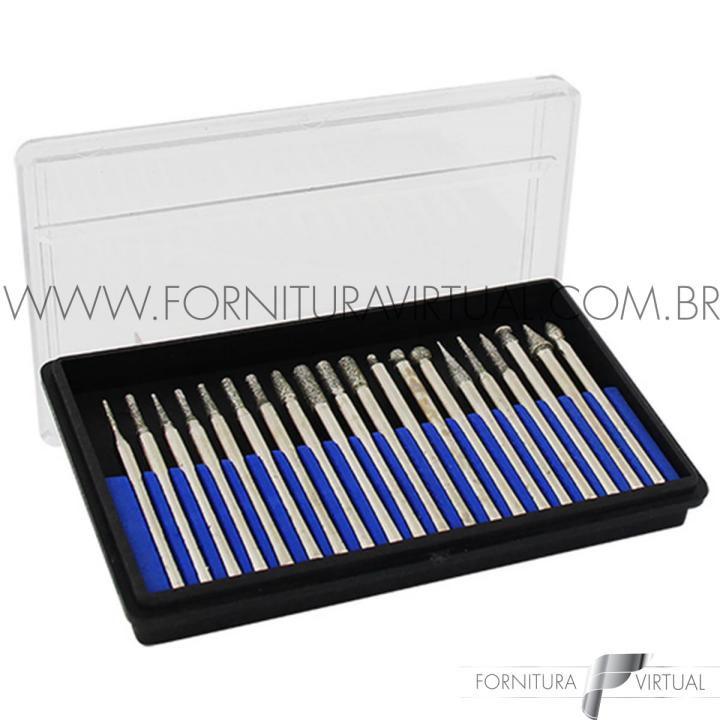 Kit Com 20 Pontas Diamantadas Para Retifica Manual