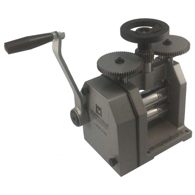 Laminador Manual (125mm) Com Redução 3x1 - Máquinas Coelho