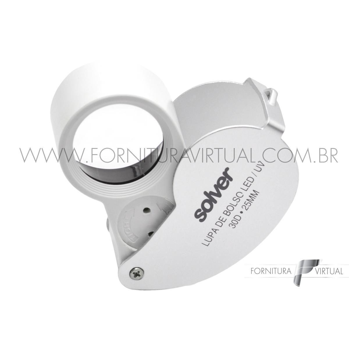Lupa de Bolso com LED - Solver SLD-131