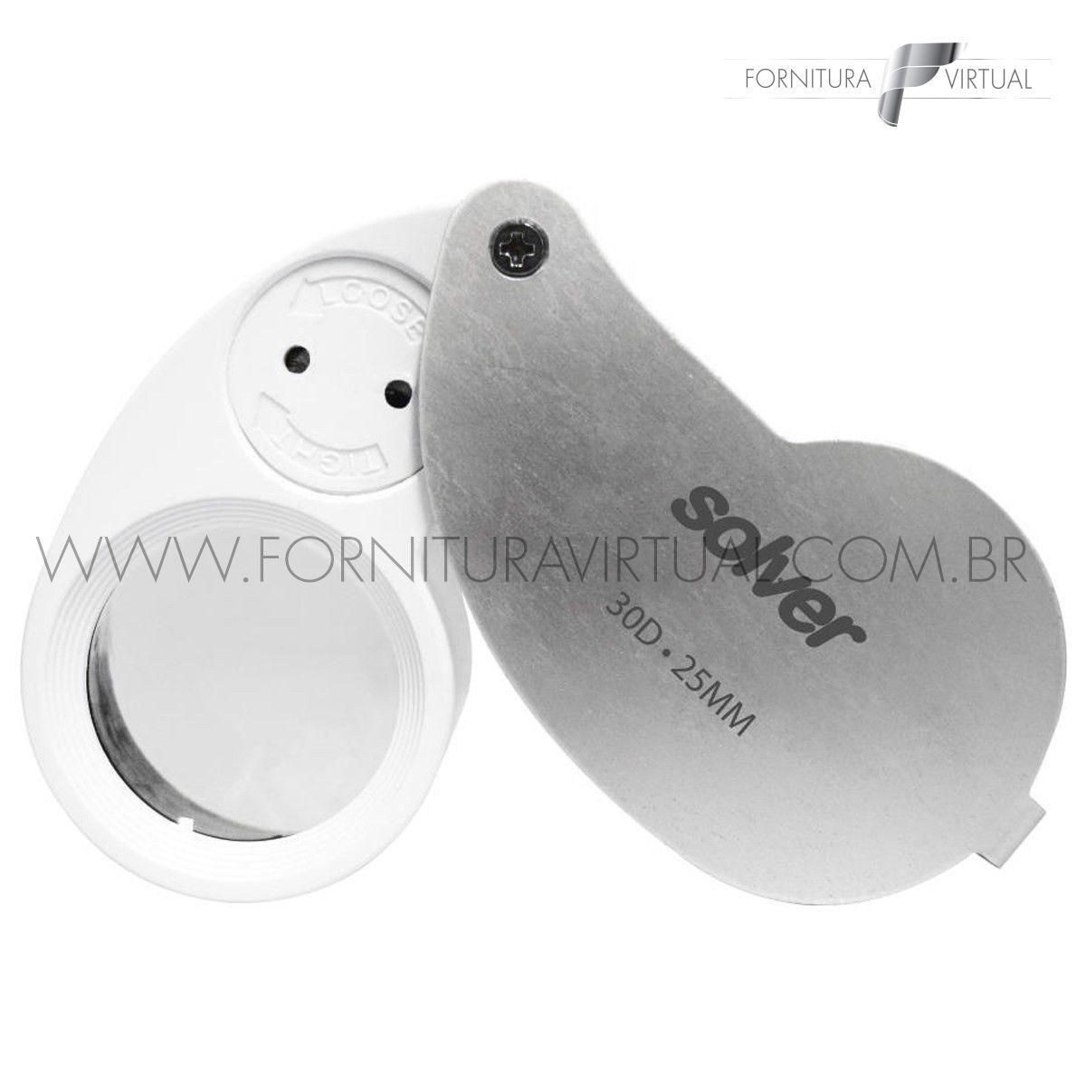 Lupa de Bolso Dupla com LED - Solver SLD-132