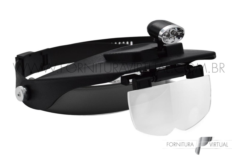 Lupa de Cabeça com LED - Solver SLC-1009