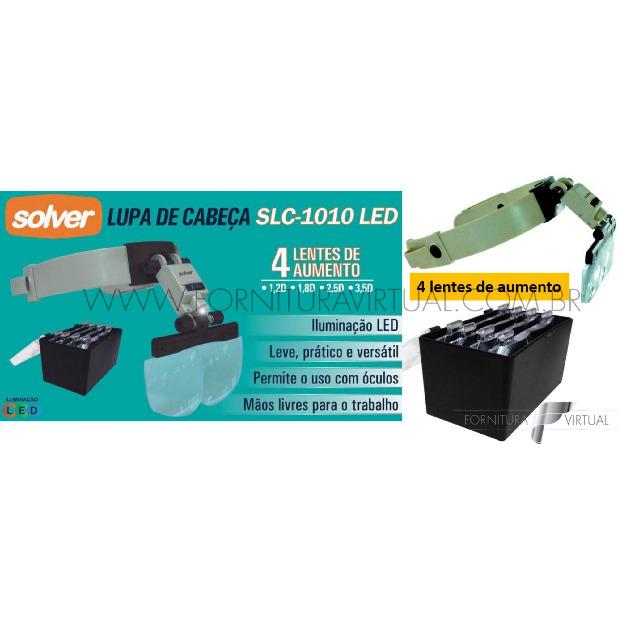 Lupa de Cabeça com LED - Solver SLC-1010