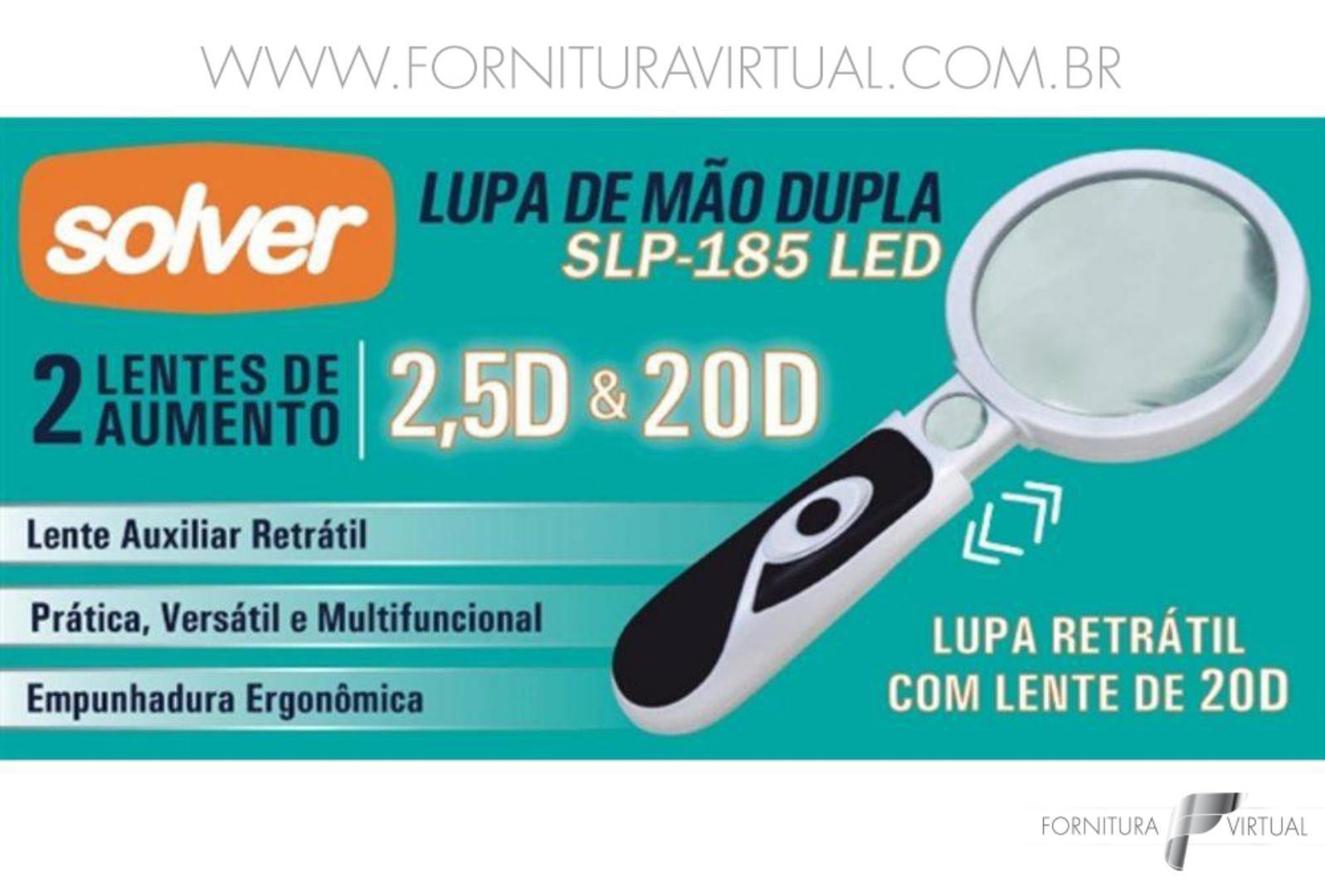 Lupa de Mão Dupla LED - Solver SLP-185