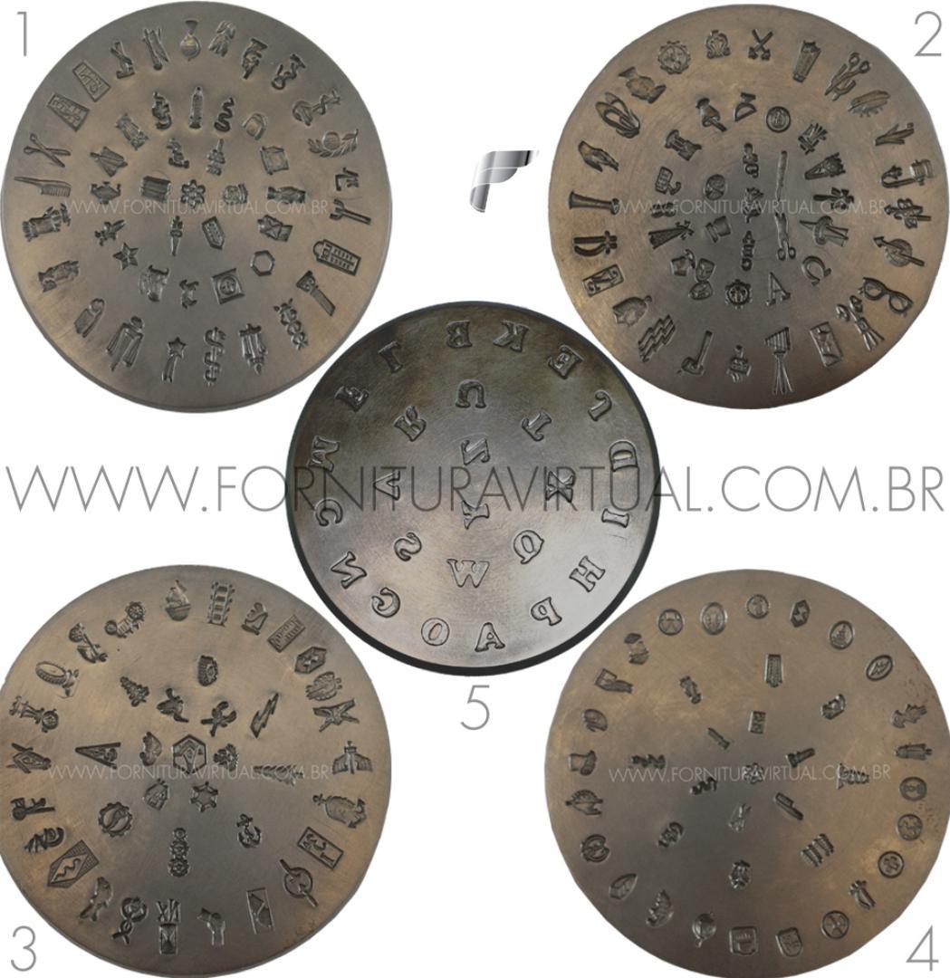 Matriz / Cunho de Emblema - Combo com 5 unidades (Queijinha)