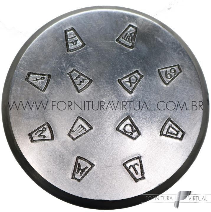 Matriz / Cunho de Emblema - Número 6 (Queijinha) - Horóscopo