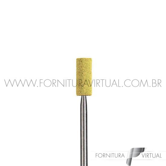Ponta/Pedra diamantada cilindrica para corte de zircônia
