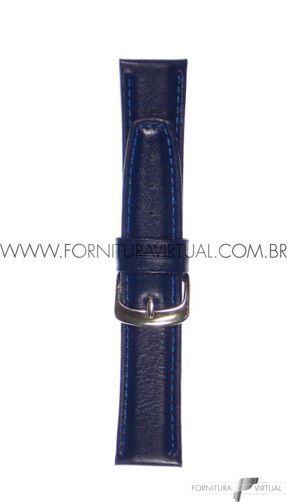 Pulseira para relógio - Social C/ Costura Azul Marinho - Francy