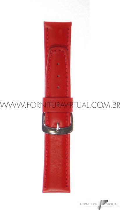 Pulseira para relógio - Social C/ Costura Vermelha - Francy