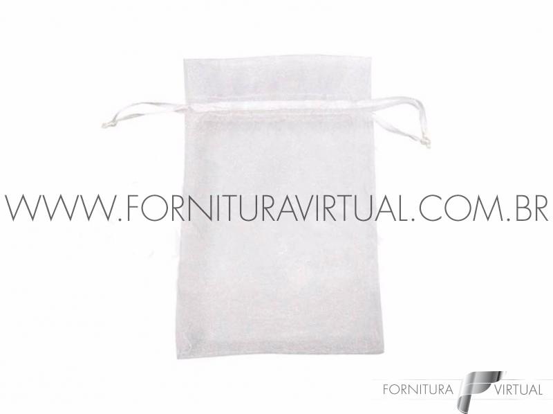 Saquinho de Organza Branco P (10 unidades) - 77406