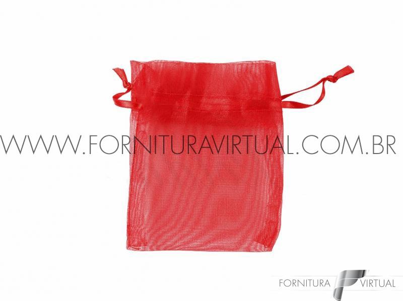 Saquinho de Organza Vermelho P (10 unidades) -
