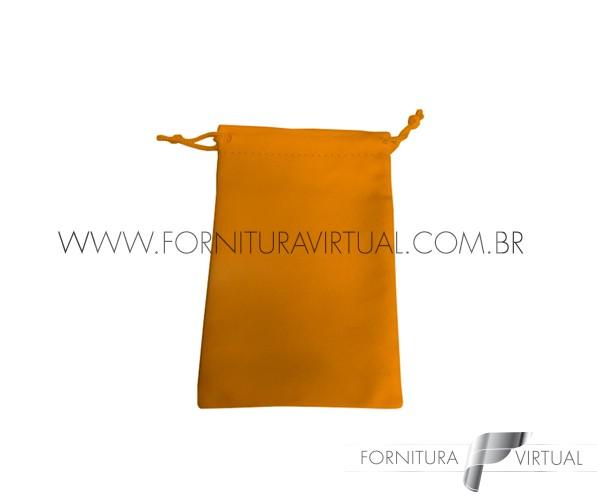 Saquinho de Suede Laranja P (10 unidades) - 85206
