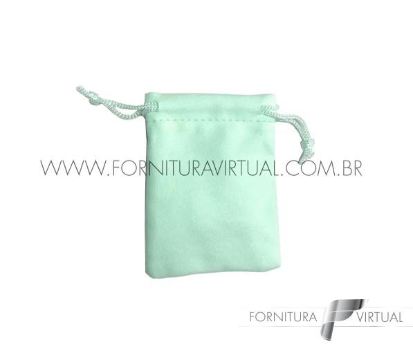Saquinho de Suede Verde Água P (10 unidades) - 85208
