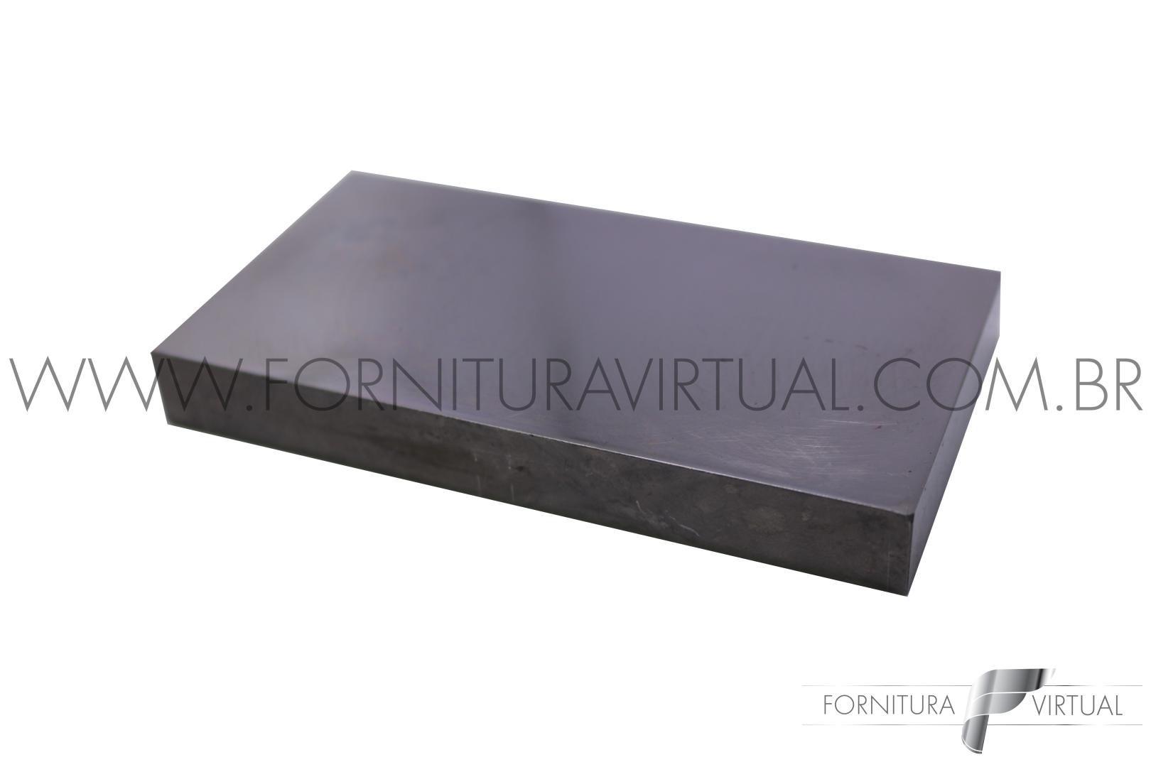Taz de aço temperado retangular - 114 x 56mm - Máquinas Coelho