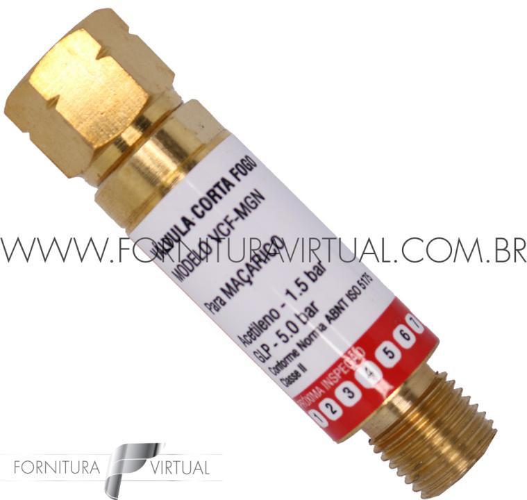 Válvula Corta Fogo Maçarico - GLP/Acetileno