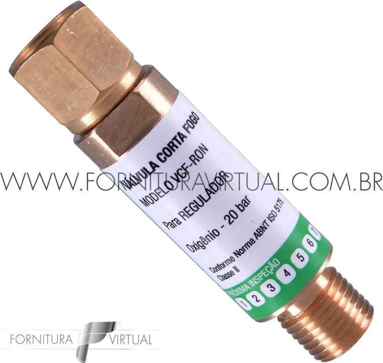 Válvula Corta Fogo Regulador - Oxigênio