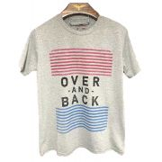 CAMISETA CINZA OVER AND BACK