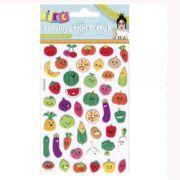 Adesivos Mini Puffy Frutas - Toke e Crie