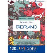 Bloco A4 c/30 folhas Desenho liso 120g - Fabriano