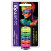 Cartela Tinta Cremosa Color Make 5 cores Fluor ref. 0008 - Colormake