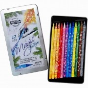 Estojo Lápis Integral Magic Multicolorido 12 cores - Ref. 8772