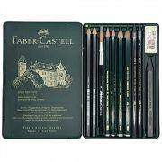 Estojo Metálico Faber Castell Lapis Grafite 11 peças