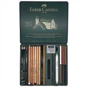 Estojo Metálico Faber Castell Lapis Grafite 21 peças