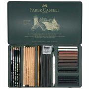 Estojo Metálico Faber Castell Lapis Grafite 33 peças