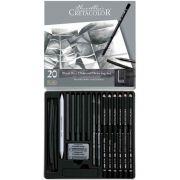Estojo para desenho 20 peças Black Box 400 30 - Cretacolor