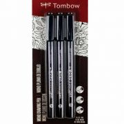 Kit Caneta para Desenho c/3 peças Mod.66403 - Tombow