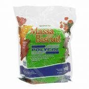 Massa para biscuit 1kg Verde Folha - Polycol
