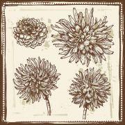 Quadro decorativo Flores em canvas - AGFL045