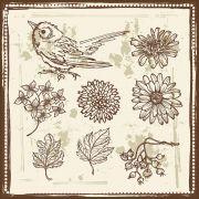 Quadro decorativo Flores em canvas - AGFL049