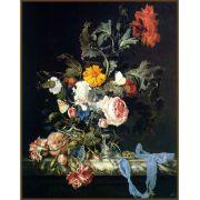 Quadro decorativo Flores em canvas - AGFL108