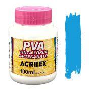 Tinta PVA fosca 100ml Acrilex - 503 Azul Celeste