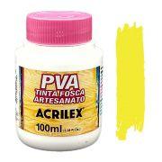 Tinta PVA fosca 100ml Acrilex - 504 Amarelo limão