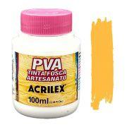Tinta PVA fosca 100ml Acrilex - 505 Amarelo Ouro