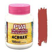 Tinta PVA fosca 100ml Acrilex - 506 Cerâmica