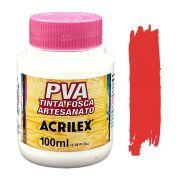 Tinta PVA fosca 100ml Acrilex - 507 Vermelho fogo