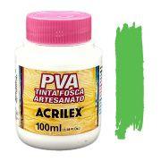 Tinta PVA fosca 100ml Acrilex - 510 Verde Folha