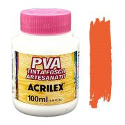 Tinta PVA fosca 100ml Acrilex - 517 Laranja