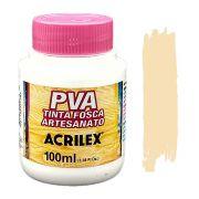 Tinta PVA fosca 100ml Acrilex - 538 Amarelo pele