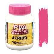 Tinta PVA fosca 100ml Acrilex - 542 Rosa escuro