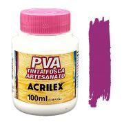 Tinta PVA fosca 100ml Acrilex - 549 Magenta